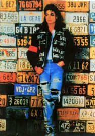 Michael Jackson - 'License Plates' Postcard